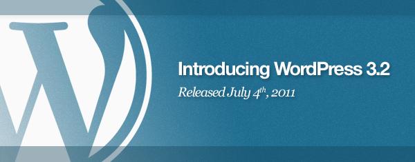"""WordPress 3.2 """"Gershwin"""" release"""