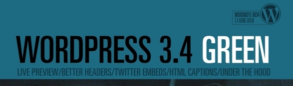 WordPress 3.4 Release Candidate 2