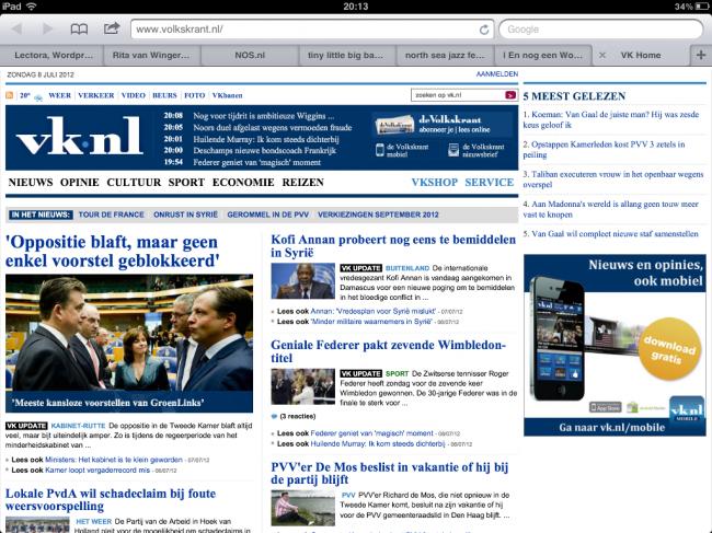 Volkskrant gewone website