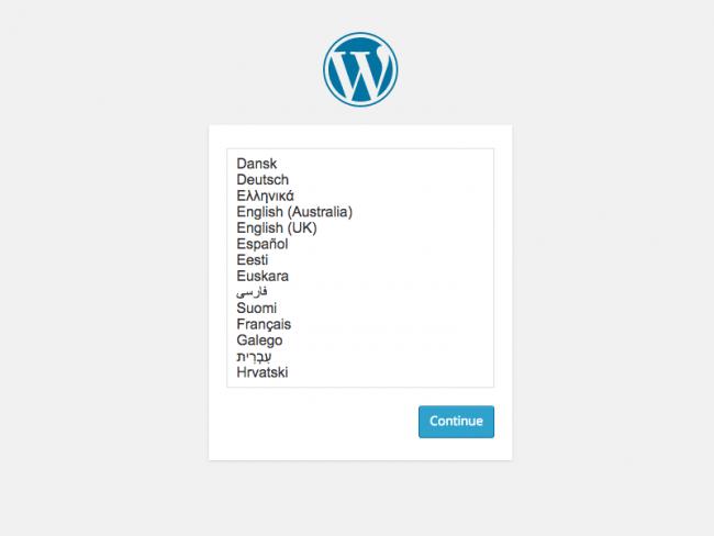 installatie wordpress 4.0